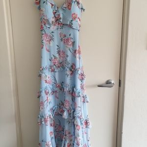Forever New Floral Maxi Dress Size 10